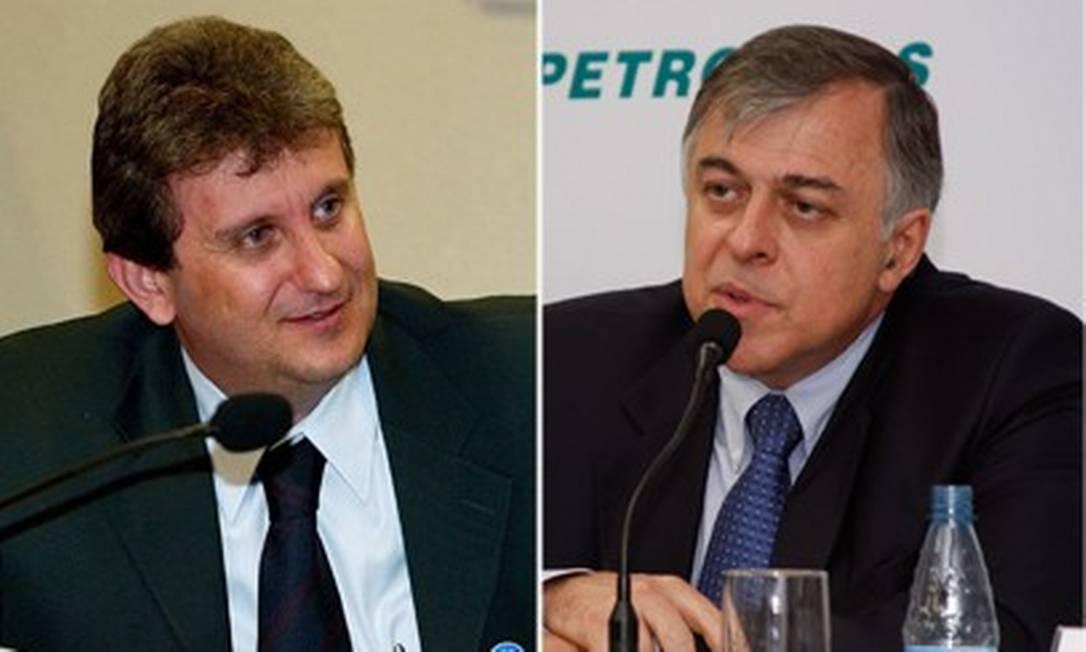 Montagem de fotos do doleiro Alberto Youssef e o ex-diretor da Petrobras Paulo Roberto da Costa Foto: Arte/O Globo