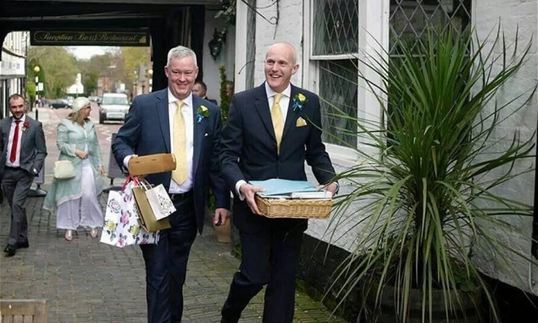 União do capelão Jeremy Pemberton (esquerda) e Laurence Cunnington Foto: / Arquivo pessoal