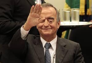 O ex-diretor da área internacional da Petrobras, Nestor Cerveró durante seu depoimento sobre a polêmica compra da refinaria de Pasadena, no Texas (EUA), em 2006 Foto: Jorge William / Agência O Globo
