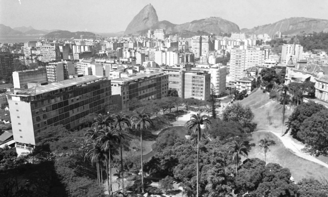 Em 1968, vista panorâmica do Parque Guinle, um dos atrativos do bairro de Laranjeiras Foto: / Agência O Glovo