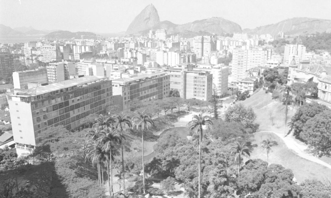 Em 1968, vista panorâmica do Parque Guinle, um dos atrativos do bairro de Laranjeiras Foto: Agência O Glovo