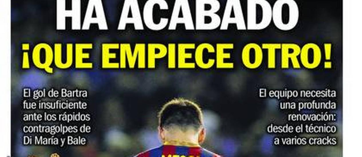 Capa do jornal catalão Sport Foto: Reprodução