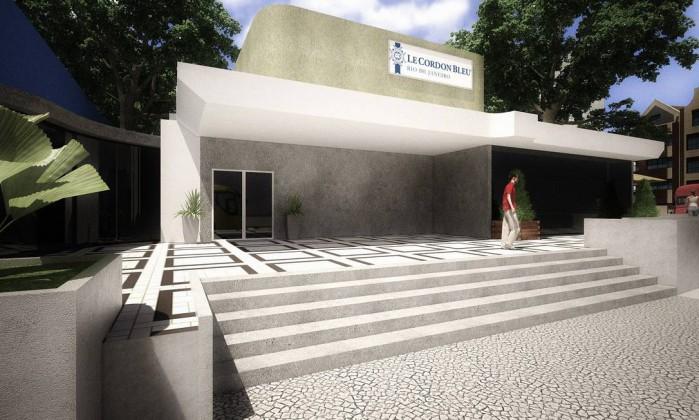 Croqui da primeira filial da escola de gastronomia francesa Le Cordon Bleu que será instalada em Botafogo Foto: / Divulgação / / Divulgação