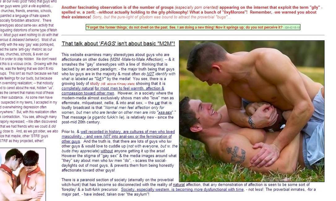 O americano G0ys.org é o maior portal sobre a comunidade g0y do mundo Foto: Reprodução