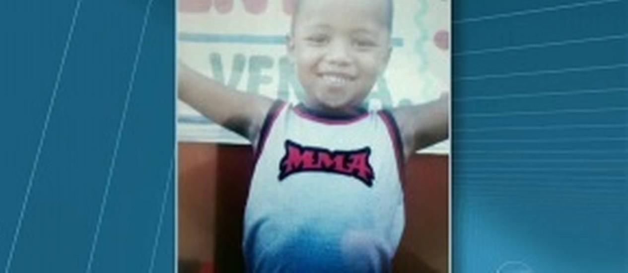 Caio, de 4 anos, foi encontrado morto em casa Foto: TV Globo / Reprodução