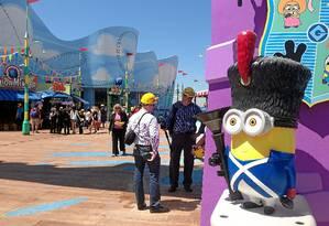 """Os Minions tomam conta da área de """"Meu malvado favorito"""" no Universal Studios Hollywood, em Los Angeles Foto: Fernanda Dutra / Fernanda Dutra"""