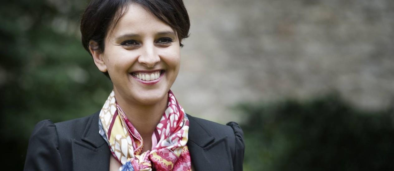 Ministra de pastas sociais, Najat Vallaud-Belkacem ganha cada vez mais espaço dentro do governo francês. Seu marido, o discreto Boris Vallaud, é braço-direito do ministro da Economia e tem pretensões políticas Foto: Benjamin Géminel / Wikimedia Commons