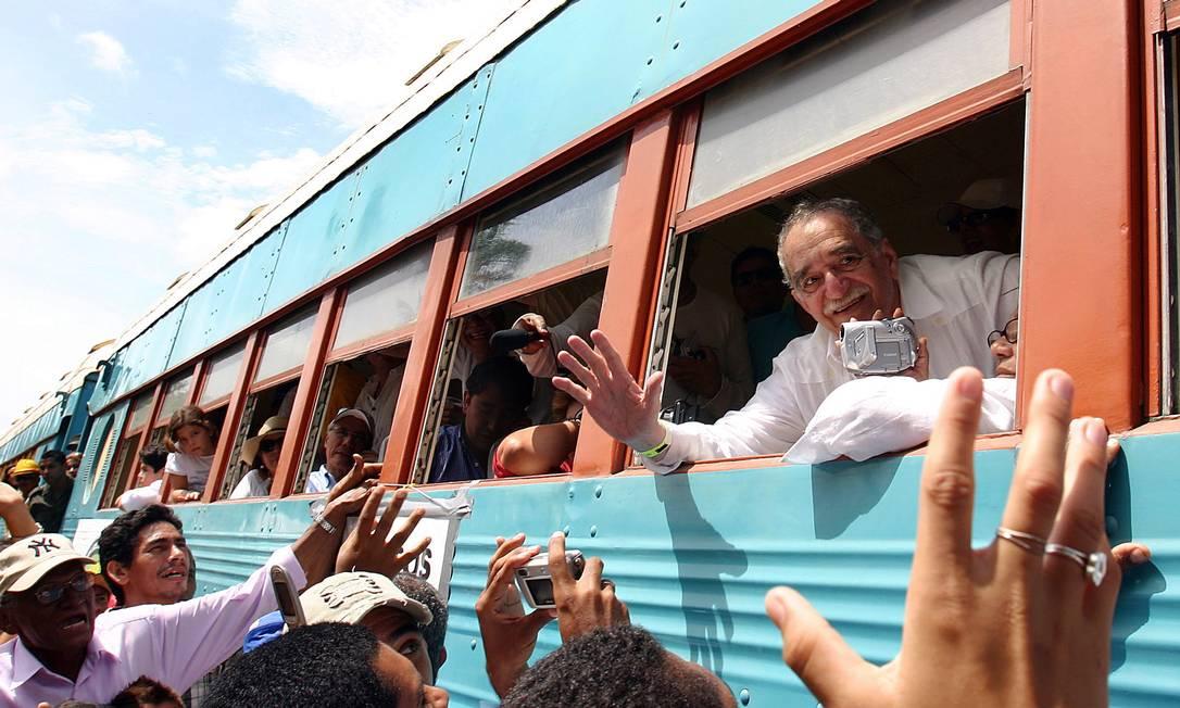 Em Aracataca. Gabo é recebido com festa na sua cidade natal, onde poucos falam dele e seus livros são pirateados para serem vendidos a turistas Foto: AFP / Alejandra Vega