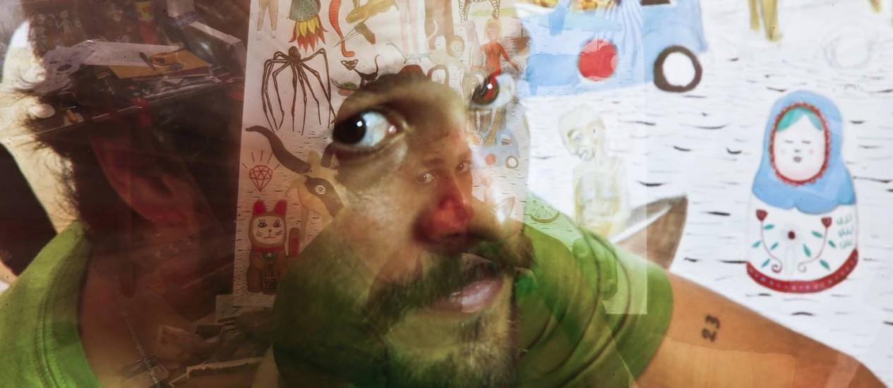 O artista plástico Alexandre Cavalcanti conta que, conta que desde pequeno mostrou particular aptidão para as artes. Foto: / Foto Guito Moreto