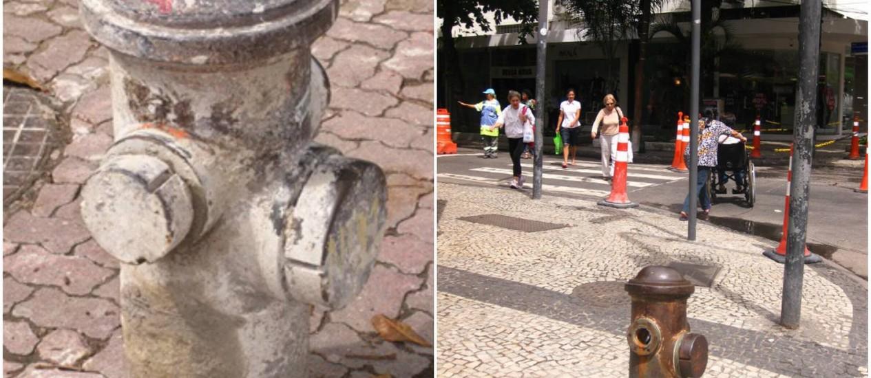 Hidrantes com aspecto de abandono em Ipanema - Foto: Leitor Ronaldo Santoro / Eu-Repórter