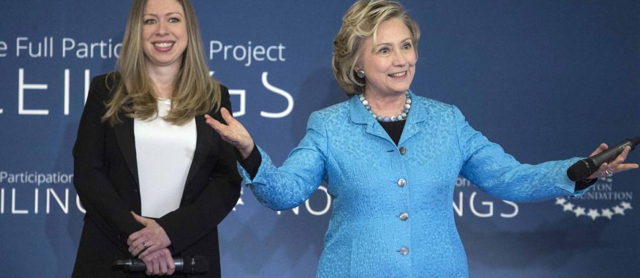 Futura vovó. Hillary Clinton comemorou anúncio da gravidez da filha Chelsea, afirmando que o título de avó é o mais importante de sua carreira Foto: ANDREW KELLY / REUTERS