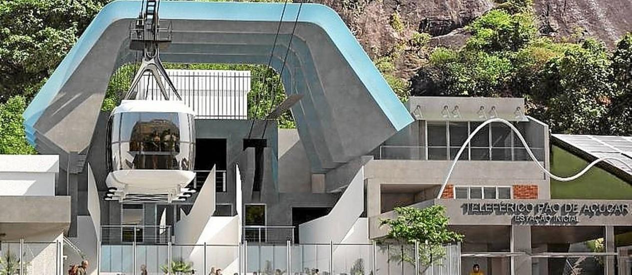 Iluminação e reforma darão mais destaque à fachada da estação Foto: Divulgação