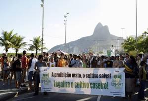 Manifestantes na 'Marcha da maconha' no Rio: protesto deste ano na cidade está marcado para o dia 10 de maio Foto: Fabio Rossi