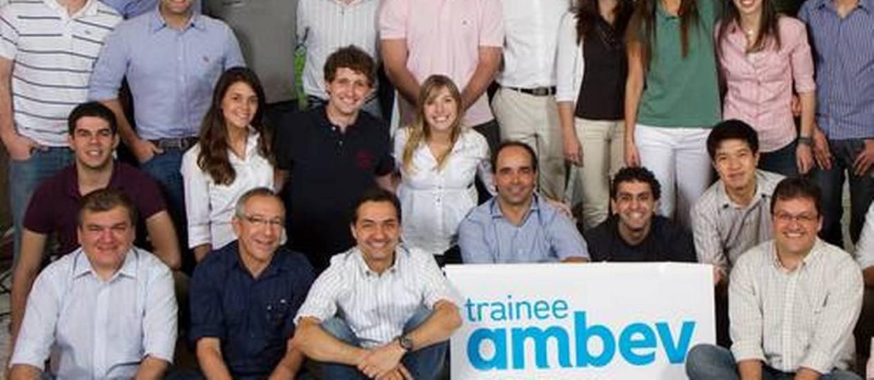 Grupo de trainees da Ambev Foto: Divulgação
