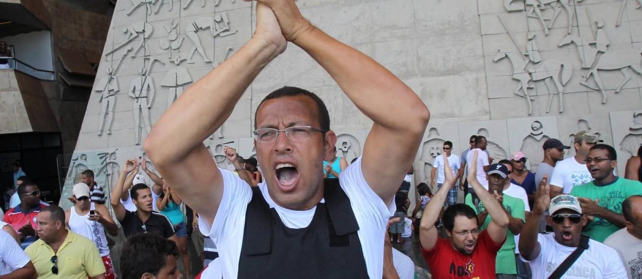 Marco Prisco liderou greve de PMs também em 2012 Foto: Lúcio Távora / A Tarde