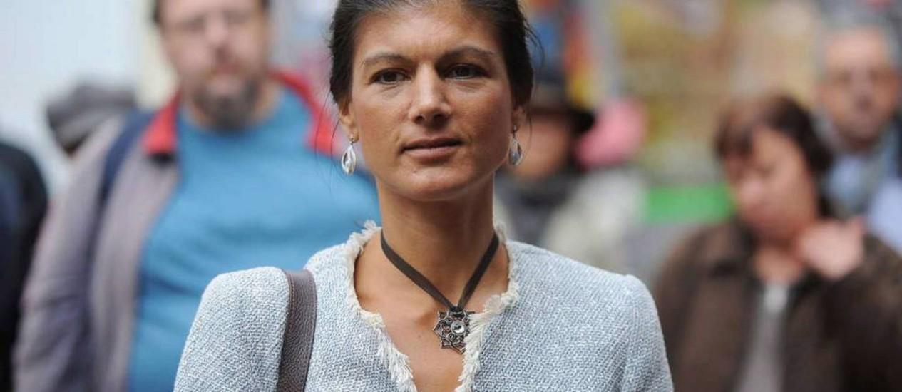 Sarah Wagenknecht, vice-presidente e musa do partido alemão A Esquerda Foto: Divulgação