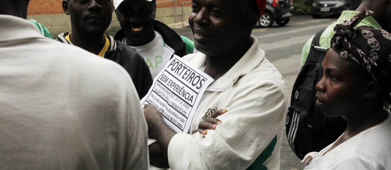 Ribiss achava que em pouco tempo acharia emprego Foto: O Globo / Fernando Donasci