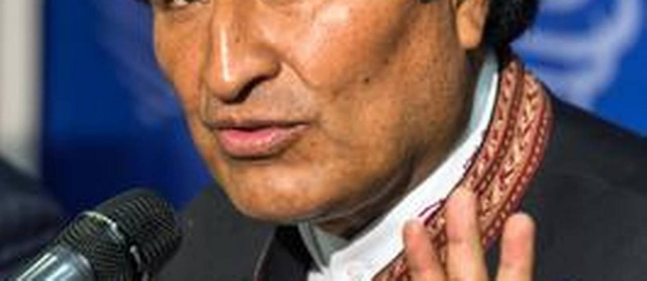 Presidente da Bolívia falou em 'libertação de caráter cultural' Foto: JODY AMIET / AFP