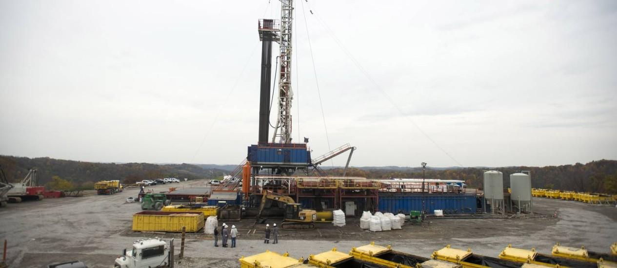 Plataforma de shale gas, na Pensilvânia: Estados Unidos começam a exportação no próximo ano Foto: Ty Wright/Bloomberg/31-10-2013