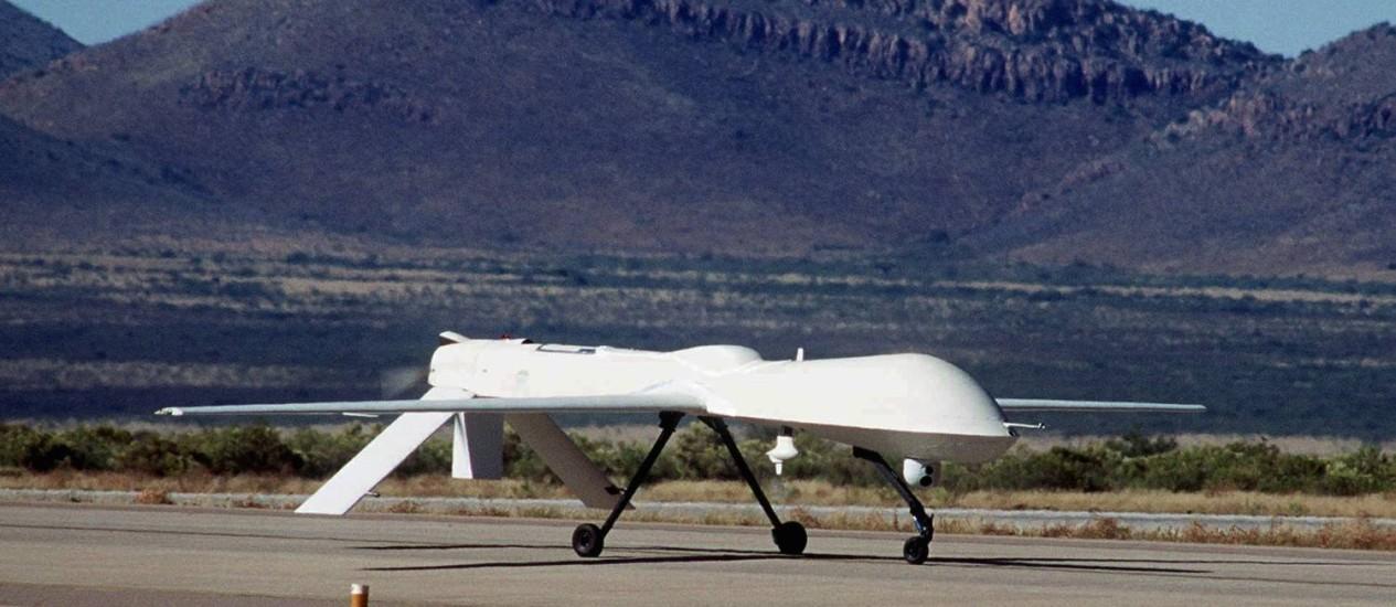 """O drone modelo """"Predator"""", do tipo usado pelos EUA para efetuar ataques Foto: Ben Sanders / AP/Ben Sanders"""