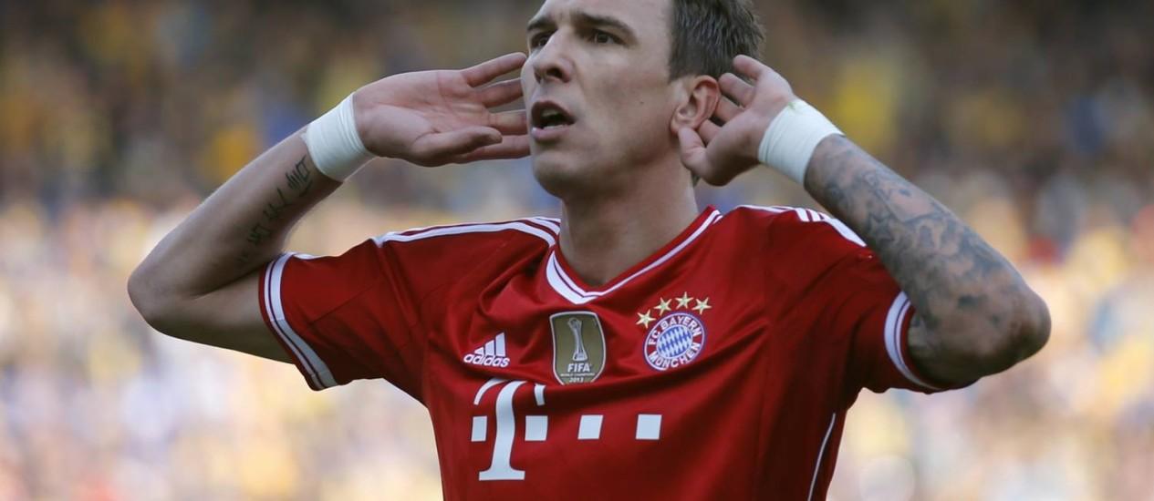 Mandzukic fez o segundo gol do Bayern de Munique Foto: Fabrizio Bensch / Reuters
