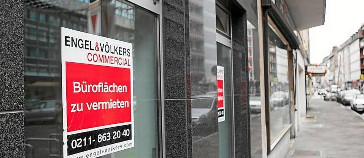 Em alta. Loja para alugar em Dusseldorf: pacote do governo vai mudar regras Foto: Krisztian Bocsi/Bloomberg/22-3-2014