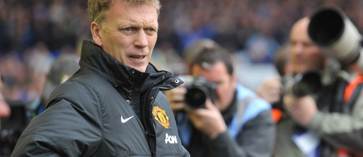 David Moyes não ficar no comando do Manchester United na próxima temporada Foto: Paul Ellis / AFP