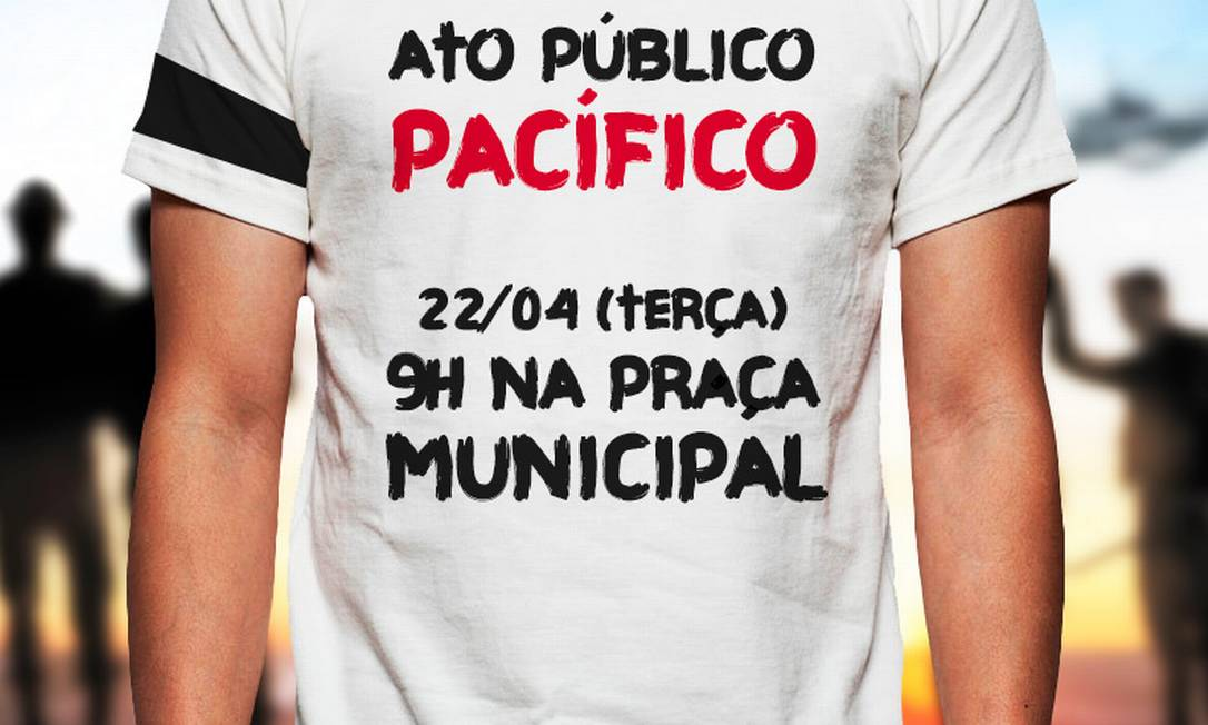 Convocação para ato de policiais em defesa de Marco Prisco Foto: / Divulgação
