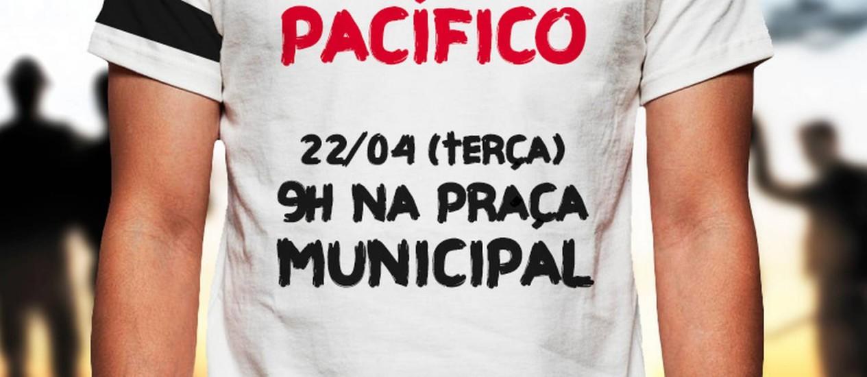 Convocação para ato de policiais em defesa de Marco Prisco Foto: Divulgação