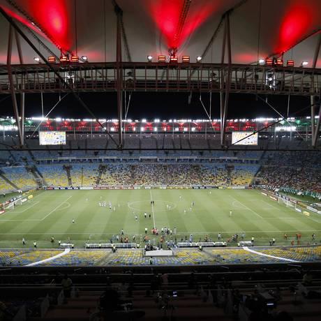 O Maracanã será um dos 5 estádios da Copa com o novo sistema da GE, capaz de gerar imagens mais nítidas nas transmissões Foto: Guito Moreto / O GLOBO