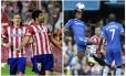 Atlético de Madrid e Chelsea se enfrentam nesta terça-feira no Vicente Calderón