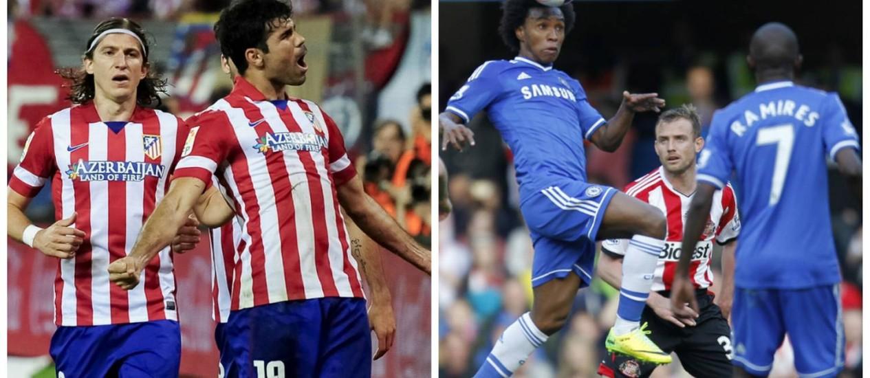 Atlético de Madrid e Chelsea se enfrentam nesta terça-feira no Vicente Calderón Foto: Fotos: AFP