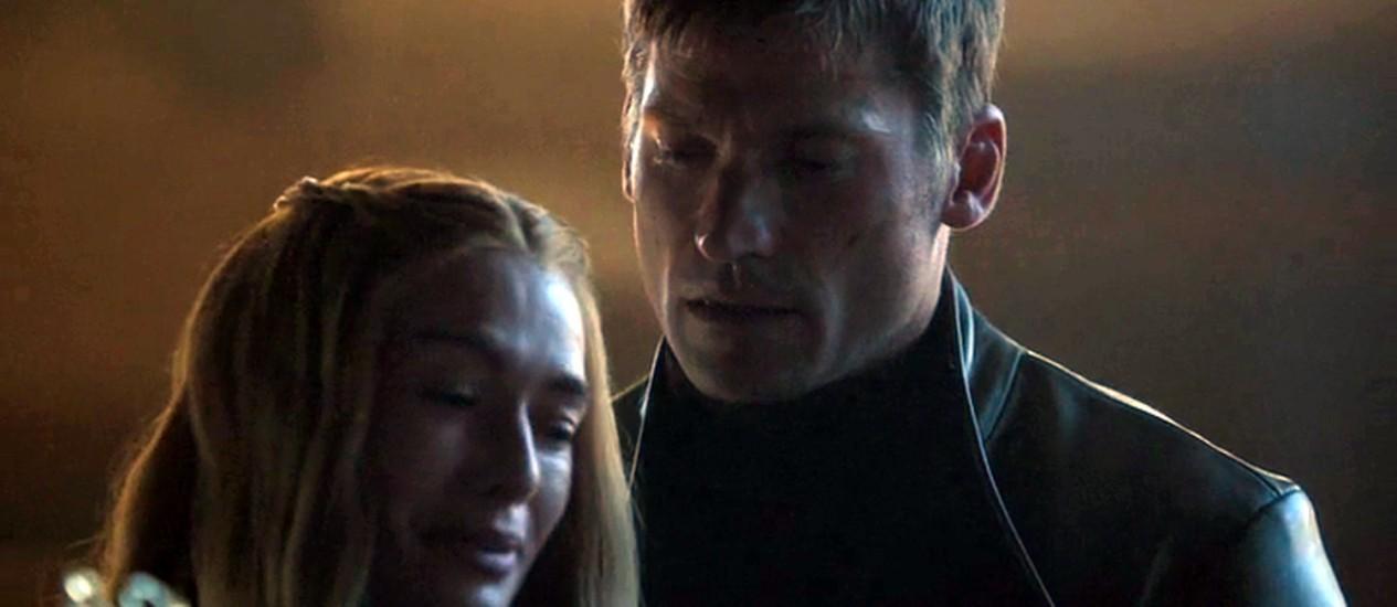 Jaime e Cersei Lannister na série 'Game of Thrones' Foto: Reprodução