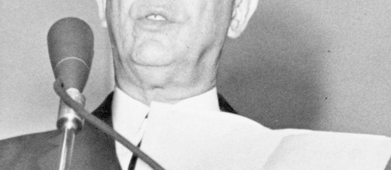 O ex-presidente Juscelino Kubitschek Foto: Arquivo O Globo/31-08-1961