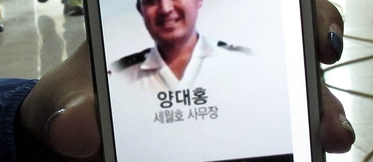 Yang Dae-hong. Membro da tripulação está entre os desaparecidos Foto: Gillian Wong / AP