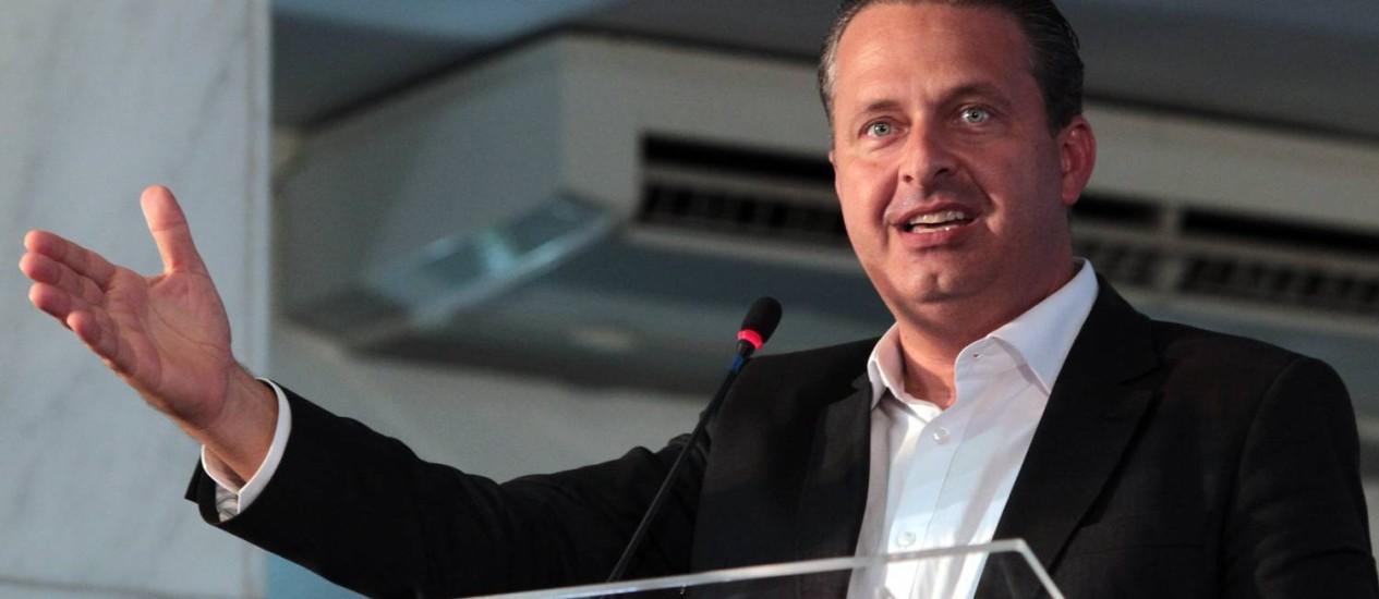 Eduardo Campos é pré-candidato à Presidência pelo PSB Foto: Givaldo Barbosa / Arquivo O Globo - 14/04/2-14