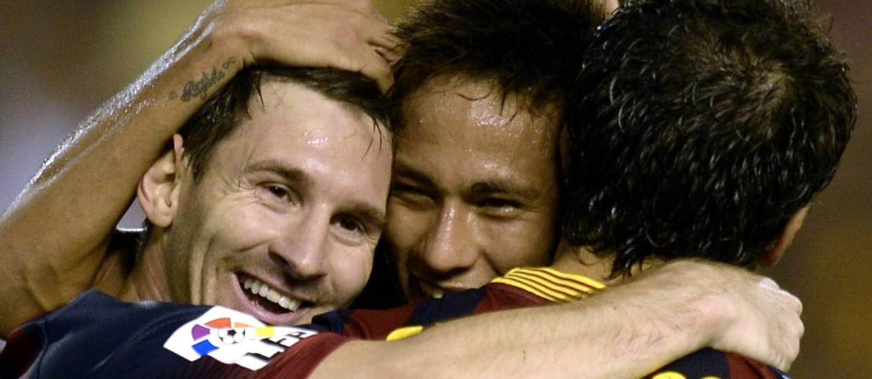 Barcelona vai poder voltar a contratar, com decisão favorável da Comissão de Apelação da Fifa: enfim um motivo para sorrir, em meio à crise no clube catalão Foto: LLUIS GENE / AFP