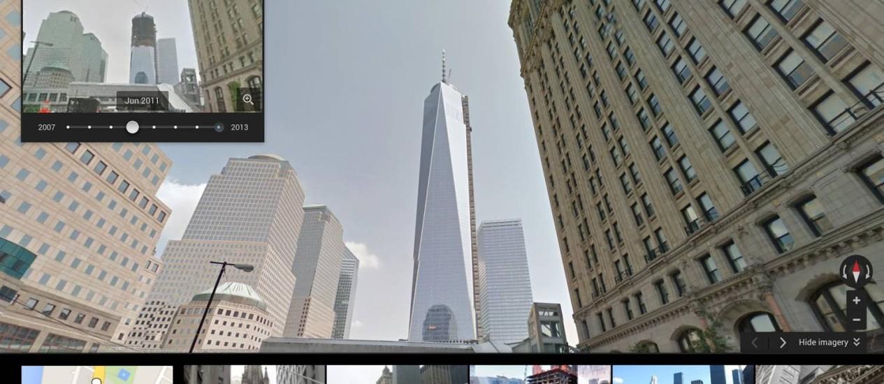 Imagens da construção da Freedom Tower, em Nova York Foto: Reprodução