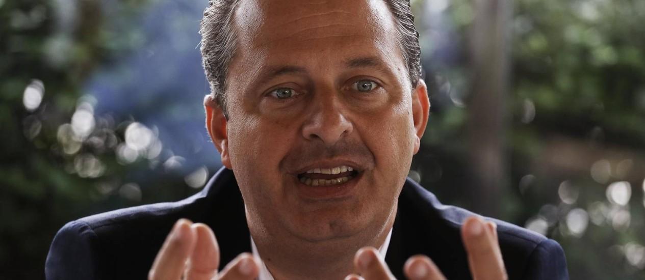 Eduardo Campos afirma que Marina Silva não é contra os ruralistas Foto: Reuters