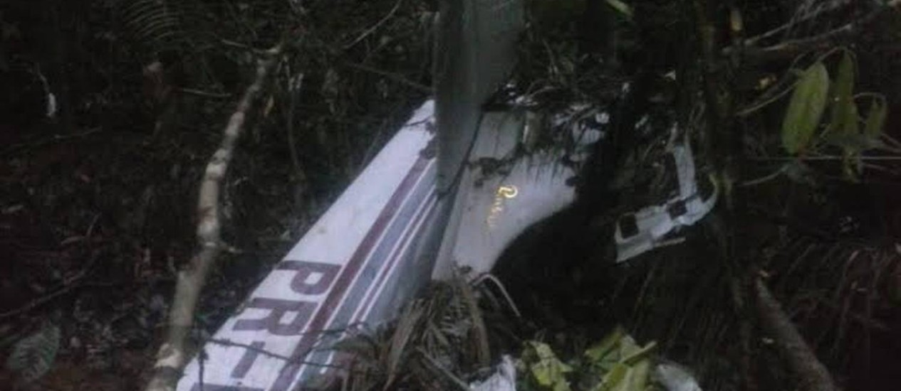 Avião foi encontrado em área de difícil acesso Foto: Divulgação / Polícia Militar do Pará