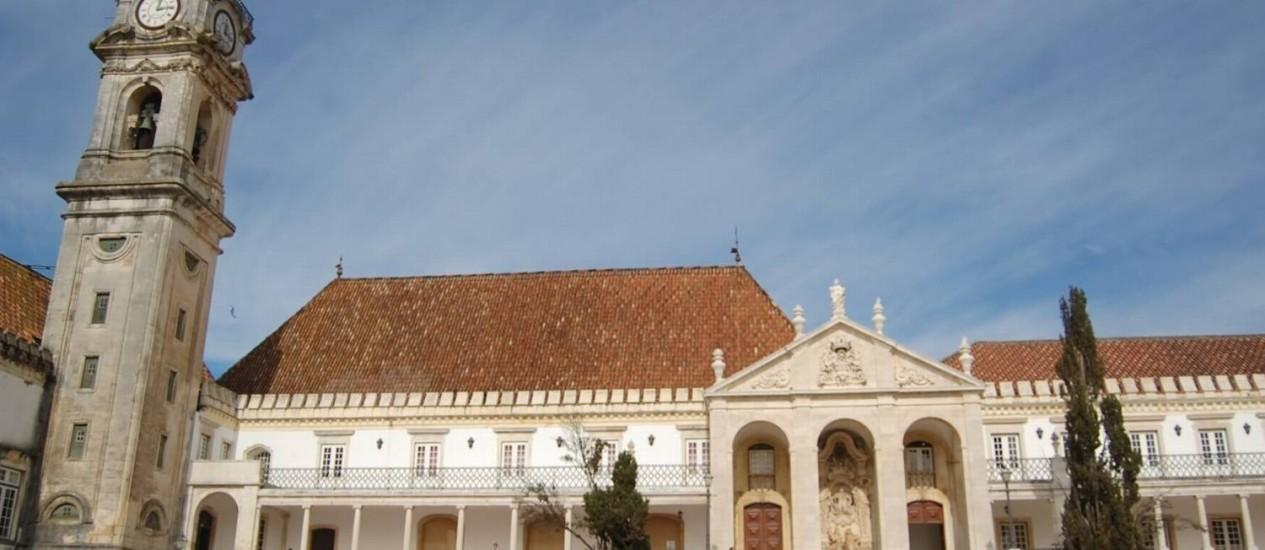 A universidade de Coimbra, em Portugal Foto: Divulgação