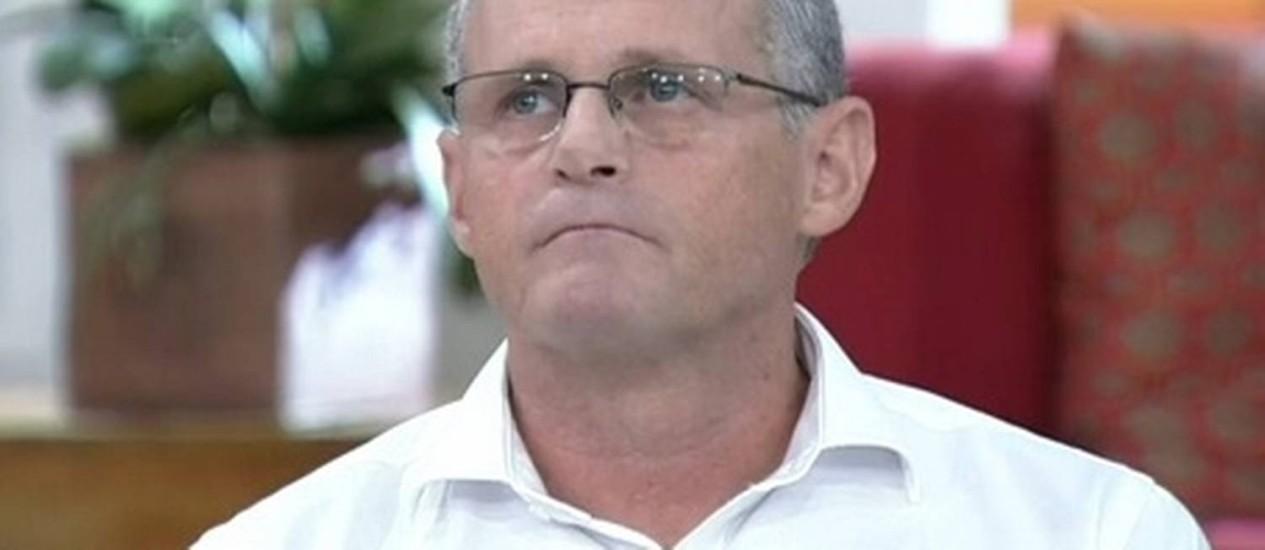 Secretário José Mariano Beltrame durante entrevista ao programa 'Encontro com Fátima Bernardes', da TV Globo Foto: Reprodução / TV Globo