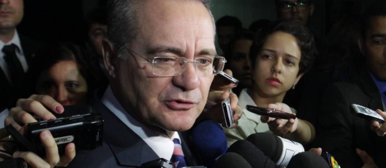 O presidente do Senado, Renan Calheiros Foto: Ailton de Freitas / Arquivo O Globo