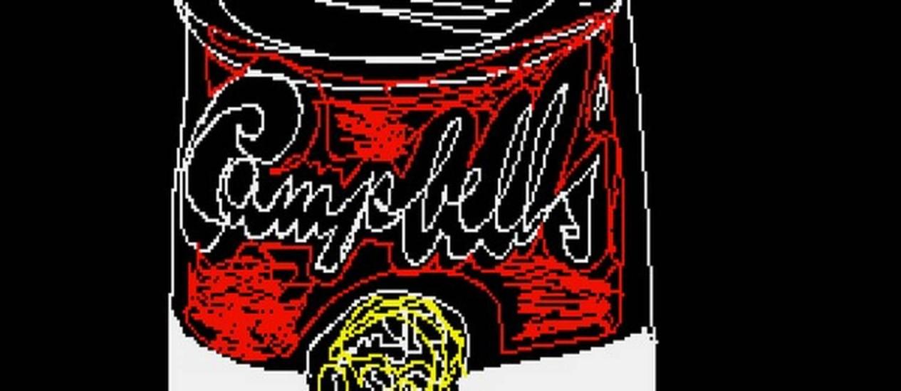 Versão digital da lata de sopa Campbell's de Andy Warhol Foto: Divulgação/Andy Warhol Museum