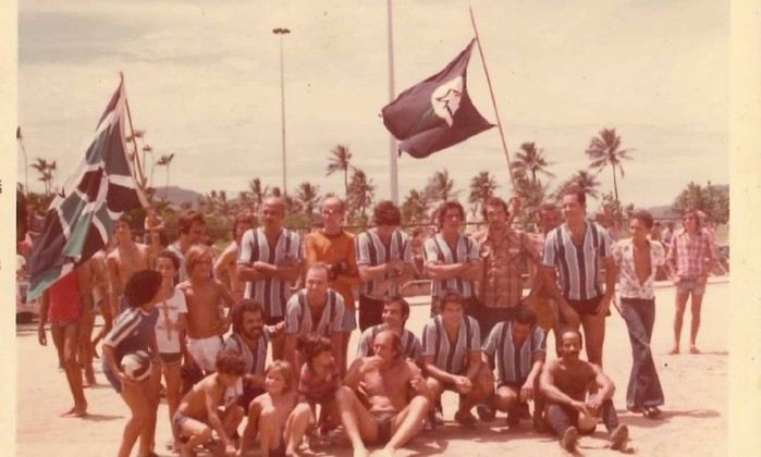 O time Alazão, de Botafogo, em campeonato vencido no Aterro do Flamengo Foto: Divulgação / Ian Sena