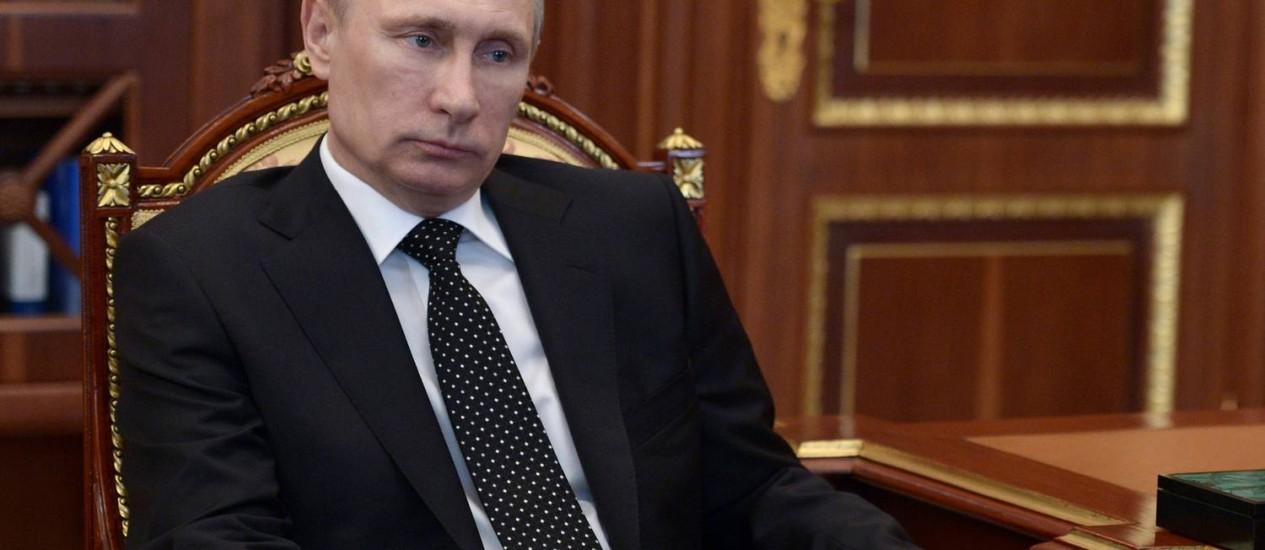 Vladimir Putin criticou o Yandex, serviço de buscas maior que o Google na Rússia Foto: ALEXEI NIKOLSKY / AFP
