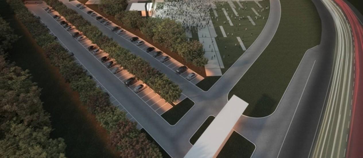 Flexível. O projeto do Centro de Convenções consiste em pavilhão único com configuração interna regulável Foto: Divulgação / Divulgação