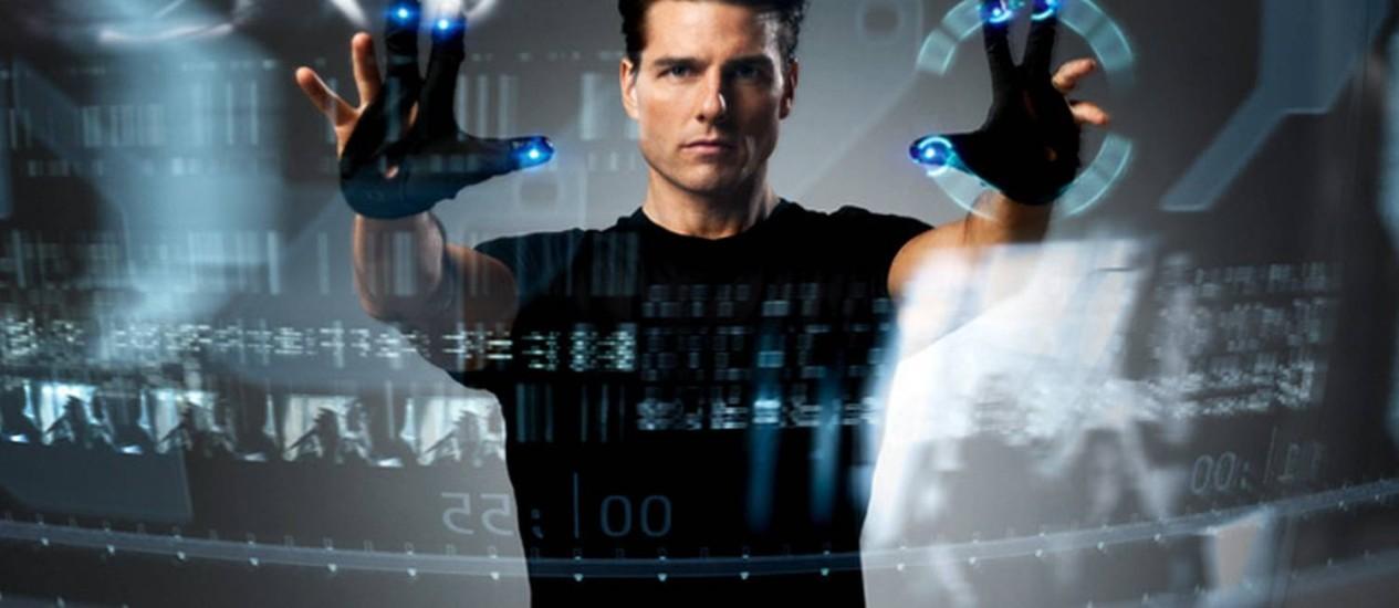 """Tecnologia desenvolvida pela Apple lembra telas futuristas de filmes como """"Minority Report"""" Foto: Reprodução"""