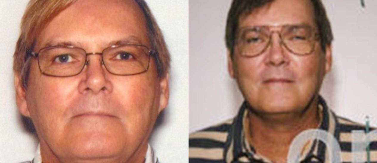 William James Vahey em 2013 (esquerda) e 2004: o FBI procura outras vítimas do professor americano Foto: FBI / AP