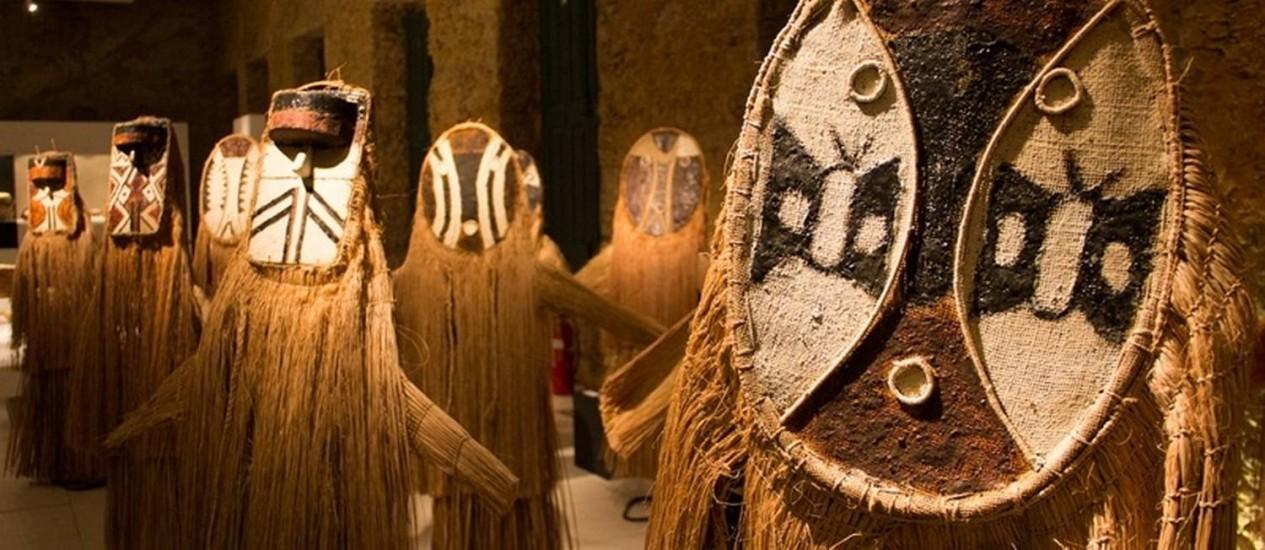 Sagradas. Máscaras usadas em rituais por índios que vivem no Tocantins Foto: Divulgação/Leo Zulluh